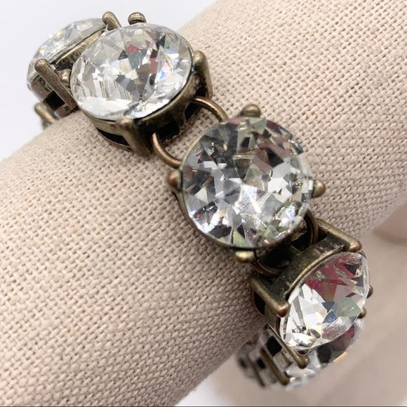 J. Crew Large Crystal Link Bracelet